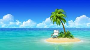 Sommerloch auf einer einsamen Insel