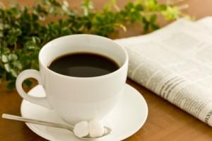 und dabei eine Tasse Kaffe trinken